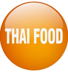 Thai food orange round gel isolated push button vector