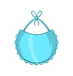 Baby bib icon cartoon style vector