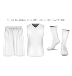 Basketball uniform templates vector