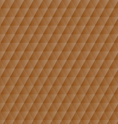 Abstract orange geometric hexagons pattern vector image vector image