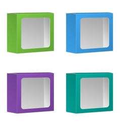 Blank Product Package Box With Window Set vector image