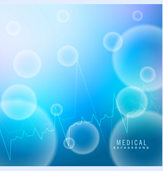 Blue medical background with molecules shapes vector