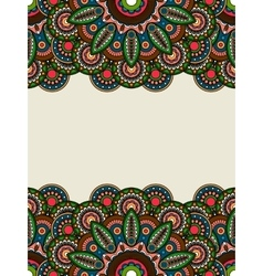 Boho hippie colored floral borders vector