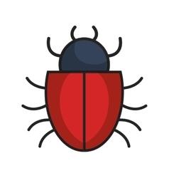 Bug alert isolated icon vector