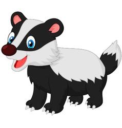 Cartoon animal badger vector