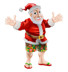 Cartoon beach santa vector