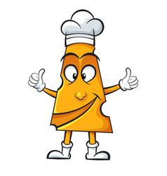 cartoon cheese-cook on the white background vector image vector image