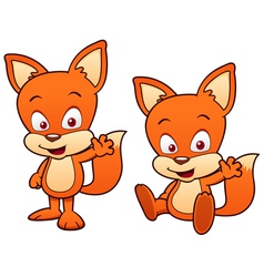Cartoon fox vector