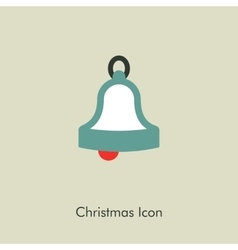 Christmas bell icon vector