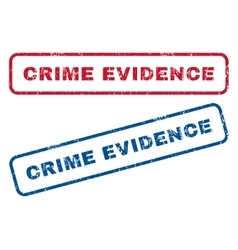 Crime evidence rubber stamps vector