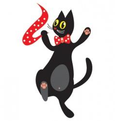 Dancing cat vector