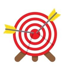 Darts hitting a target vector
