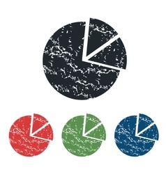 Diagram grunge icon set vector image vector image