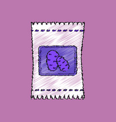 Flat shading style icon potato seeds vector