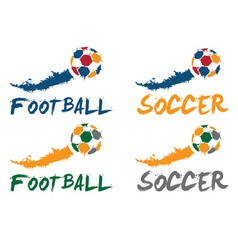 football and soccer vector image vector image