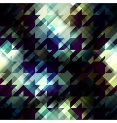 Hounds-tooth pattern on dark pixels background vector