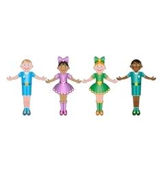 International Children isolated on white vector image vector image