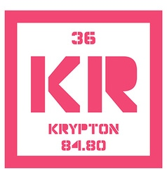 Krypton chemical element vector image
