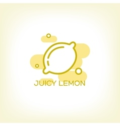 Lemon and healthy fruit design logo vector