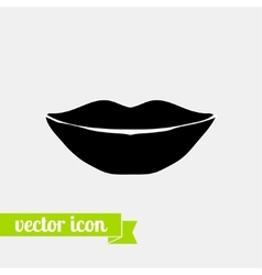 Lips icon 4 vector image