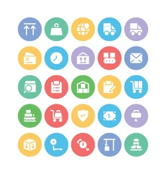 Logistics delivery icons 8 vector