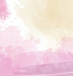 pink and yellow watercolor background vector image vector image