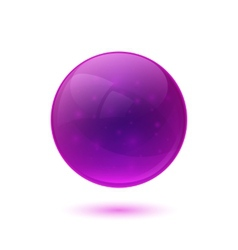 Purple glossy glass sphere vector