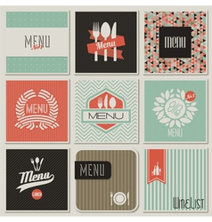 Retro-styled restaurant menu designs vector image vector image