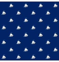 Seamless Pattern with Sailing Vessel vector image vector image