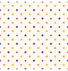 seamless retro pattern with stars vector image vector image