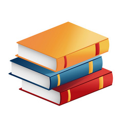 Stack book literature learning study vector