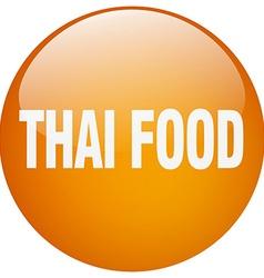Thai food orange round gel isolated push button vector