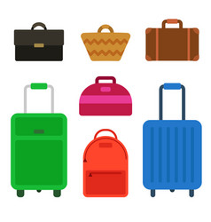 travel bag set vector image