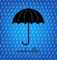Vintage Black Umbrella vector image