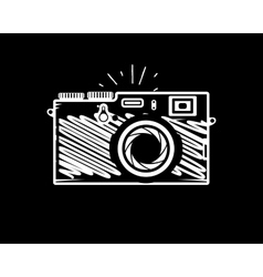 Vintage photo camera doodle style vector image vector image