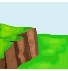 landscape with cliffs and meadows eps10 vector image