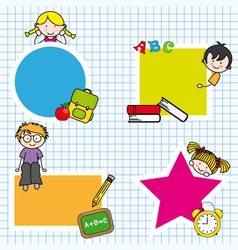 Card for education vector image