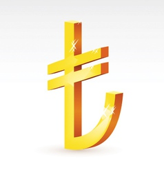 currency sign of Turkish lira vector image