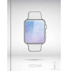 White smart watch isolated on white backround vector