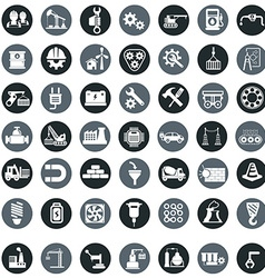 Industry factory icons set vector