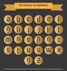 Orange letter icon set vector