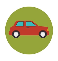 Car in round icon vector