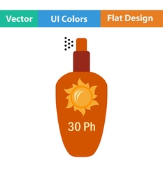 Flat design icon of sun protection spray vector