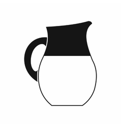 Pitcher of milk icon simple style vector