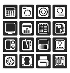 Black hi-tech and technology equipment vector