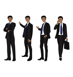 Business man full body color black vector
