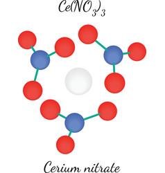 Cerium nitrate CeN3O9 molecule vector image vector image