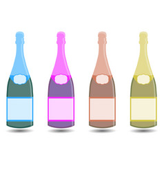 Champagne a bottle of wine vector