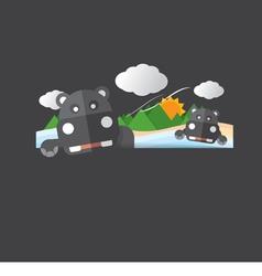 Cute hippopotamus portrait vector