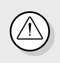 Exclamation danger sign flat style flat vector